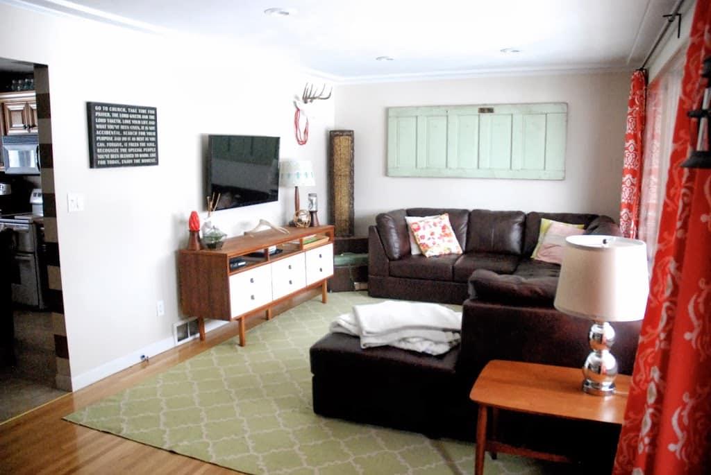 Vintage Modern Mid Century Comfortable Living Room