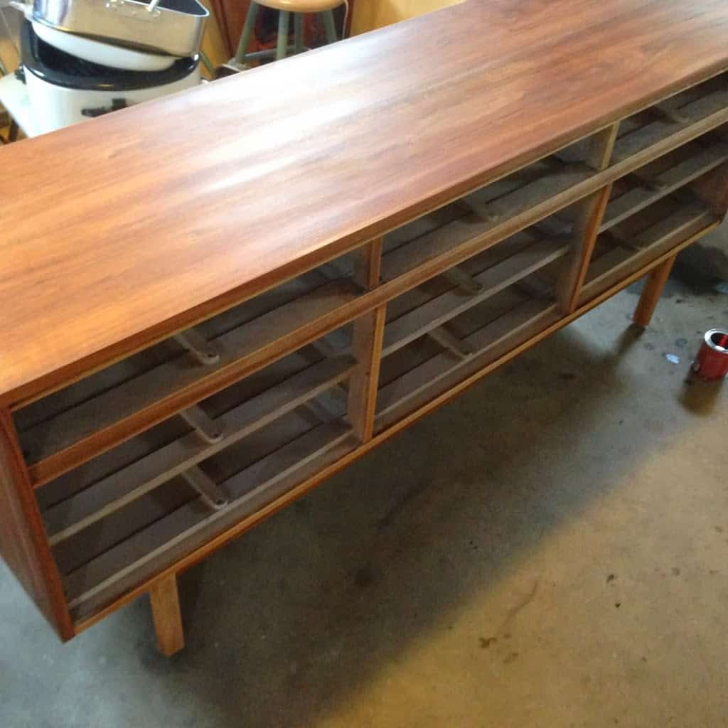 Mid-Century Dresser treated with Pre-Conditioner