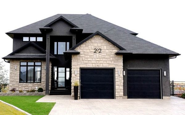Home with Black Windows