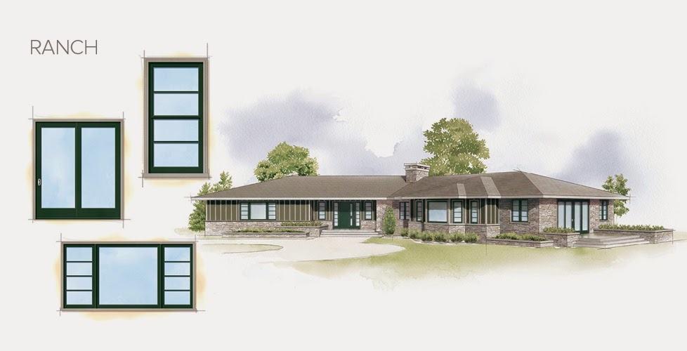 Ranch style windows
