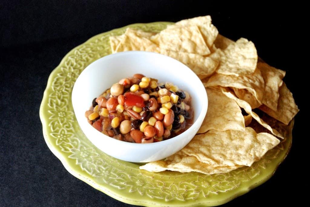 Four Bean and Veggie Mexican Dip