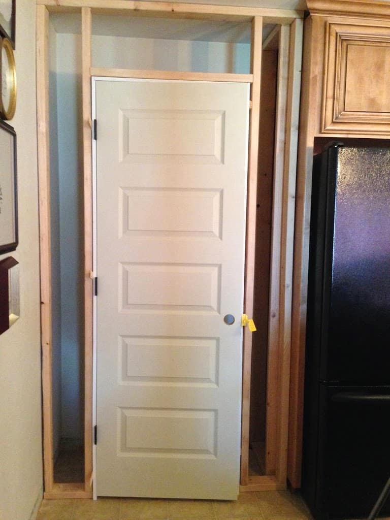 Charming broom closet wood roselawnlutheran for Kitchen closet