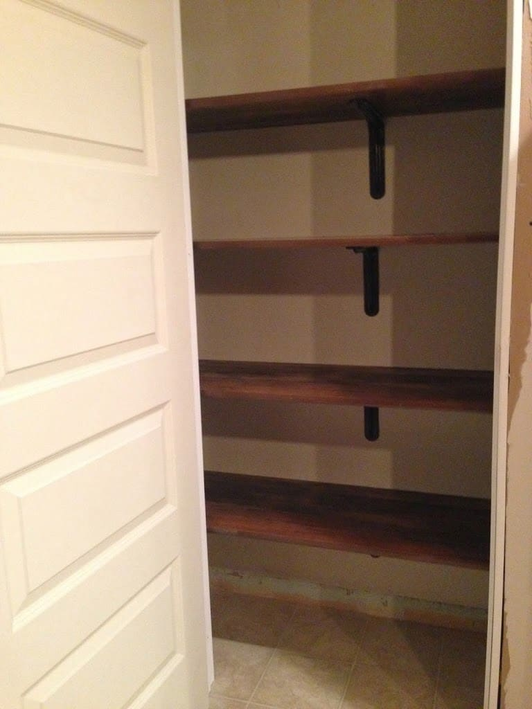 DIY Kitchen Pantry Shelving