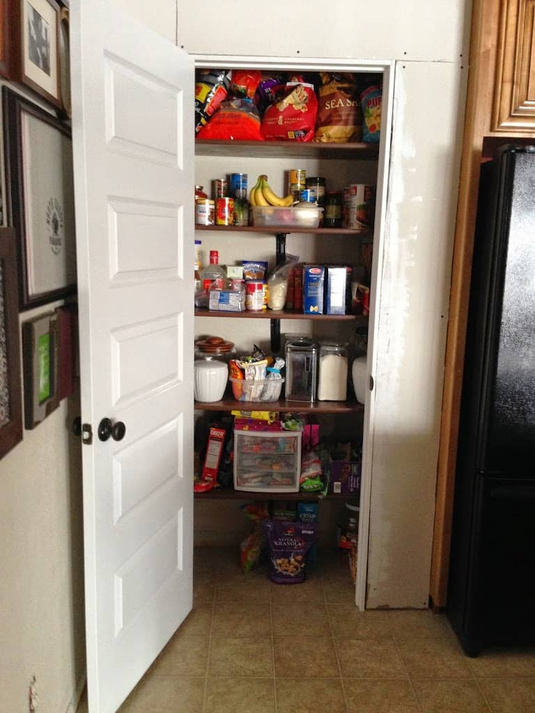 Kitchen Chalkboard With Shelf Building A Kitchen Pantry On A Budget