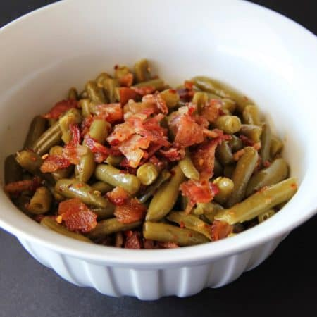spicy bacon green beans