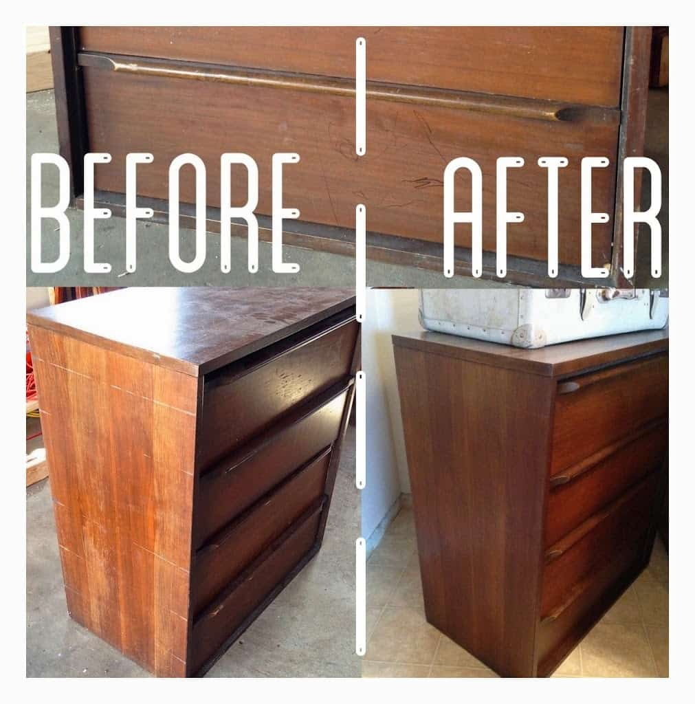 Midcentury Dresser Re Do Without Sanding Or Staining