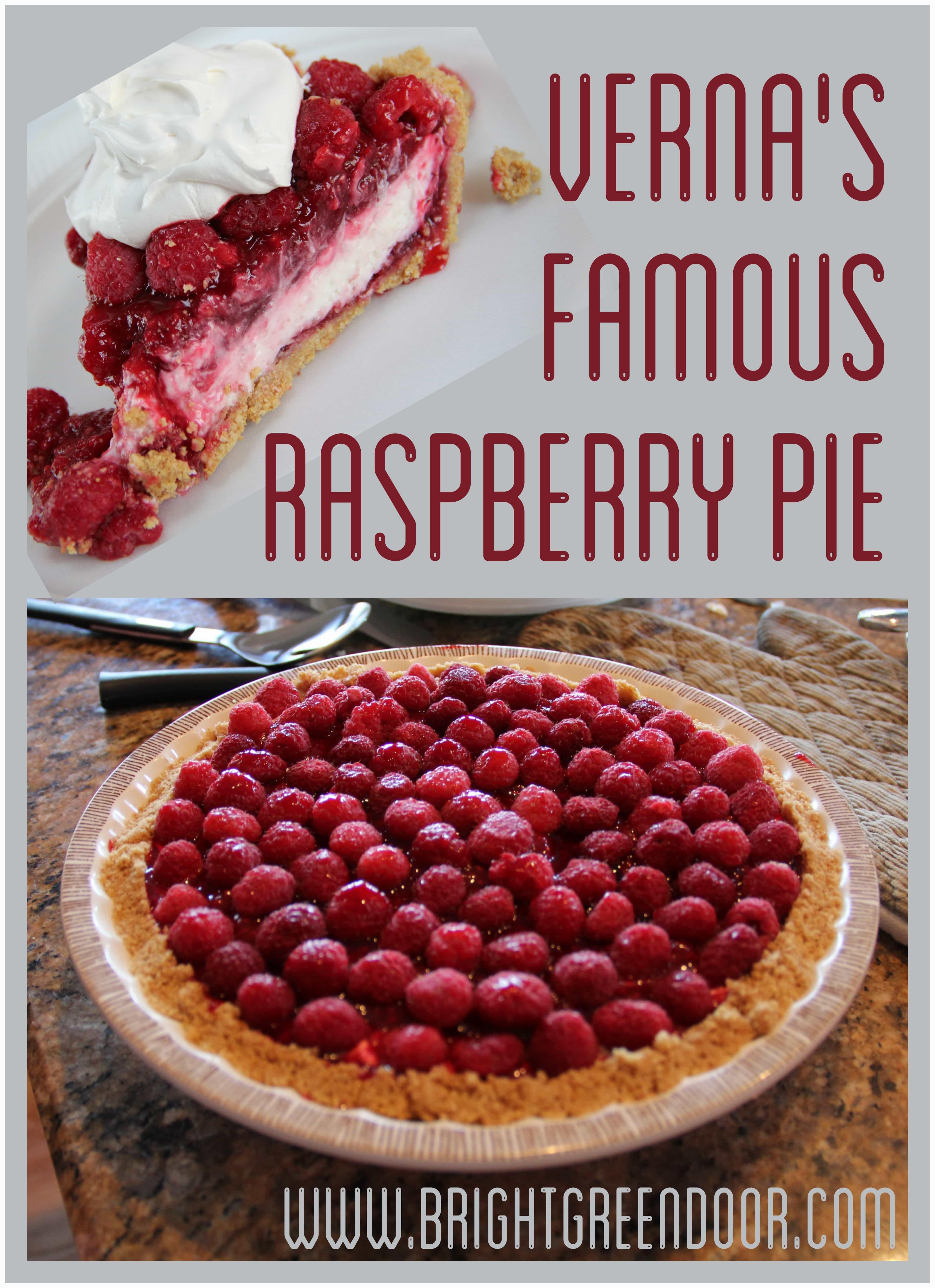 Verna's Famous Raspberry Pie
