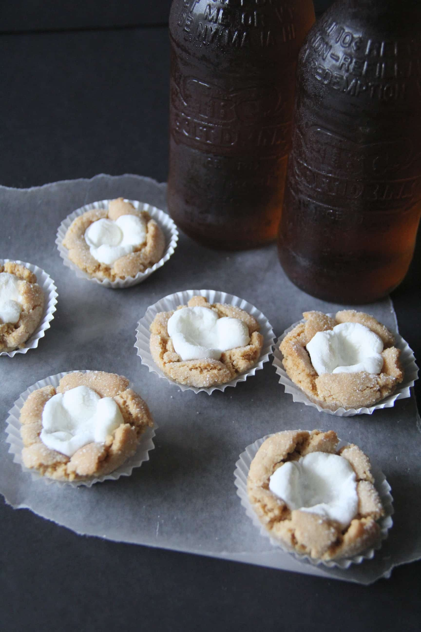 Marshmallow Cookies with Cream Soda