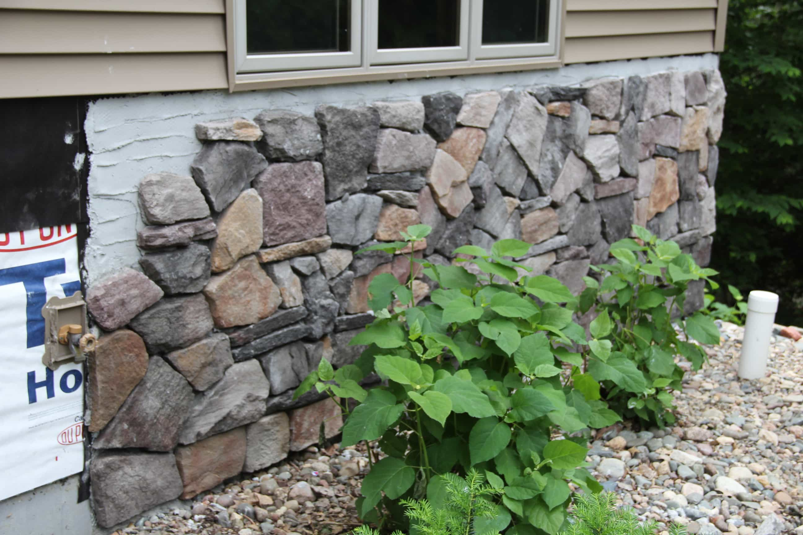 Adding Rock Veneer on Home