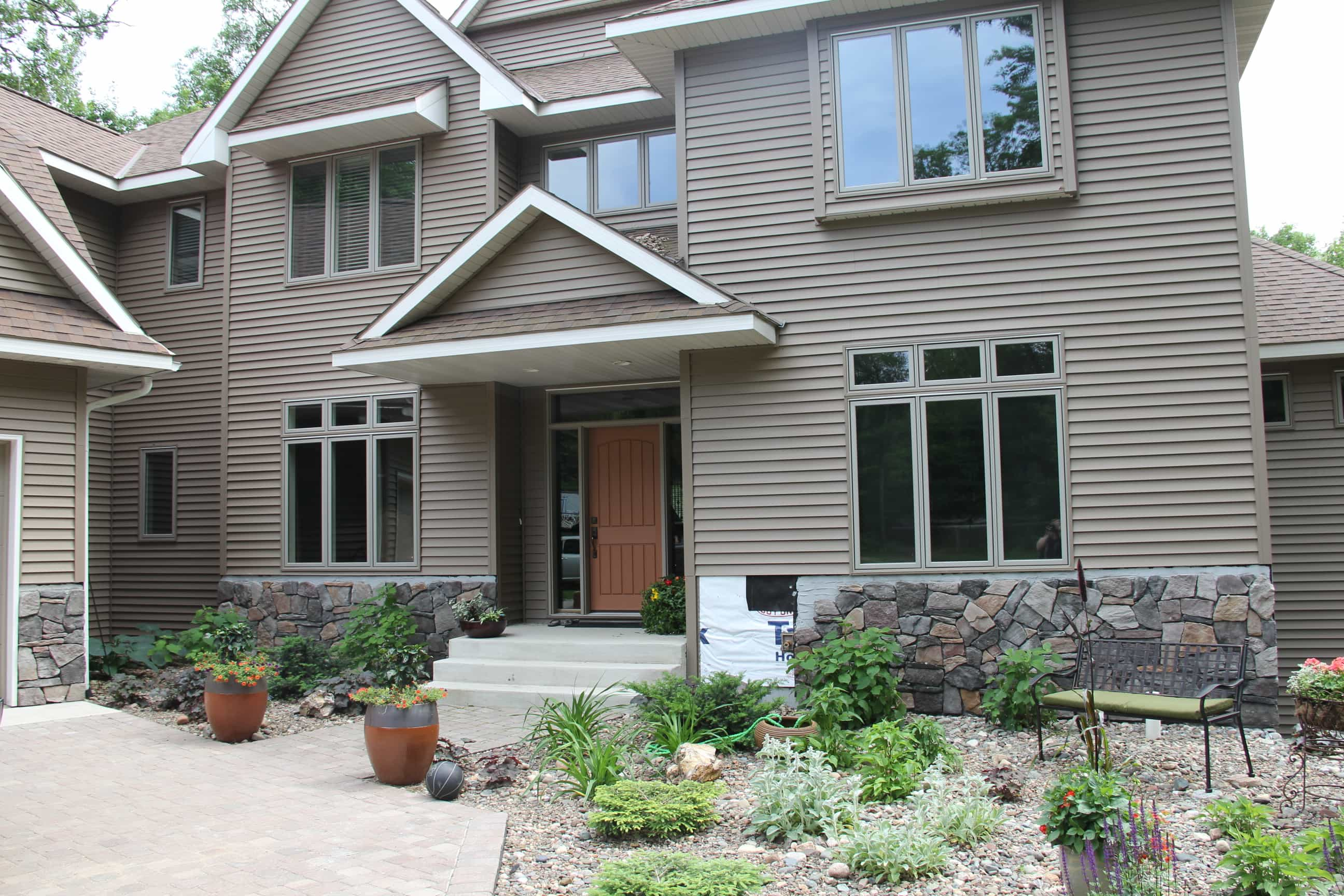 DIY Stone Veneer on House Exterior