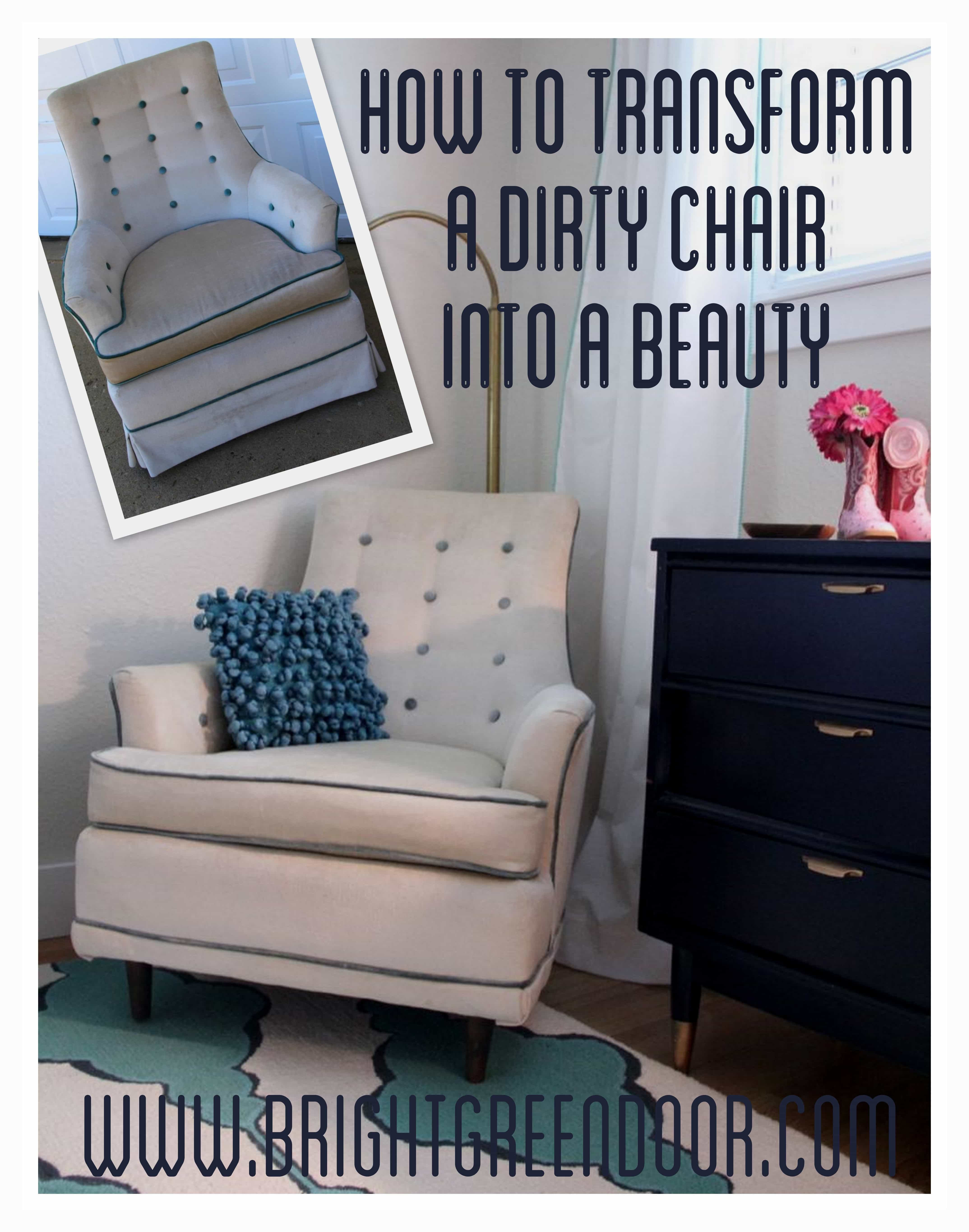 Chair Transformation- Turning a Dirty Chair into a Beauty