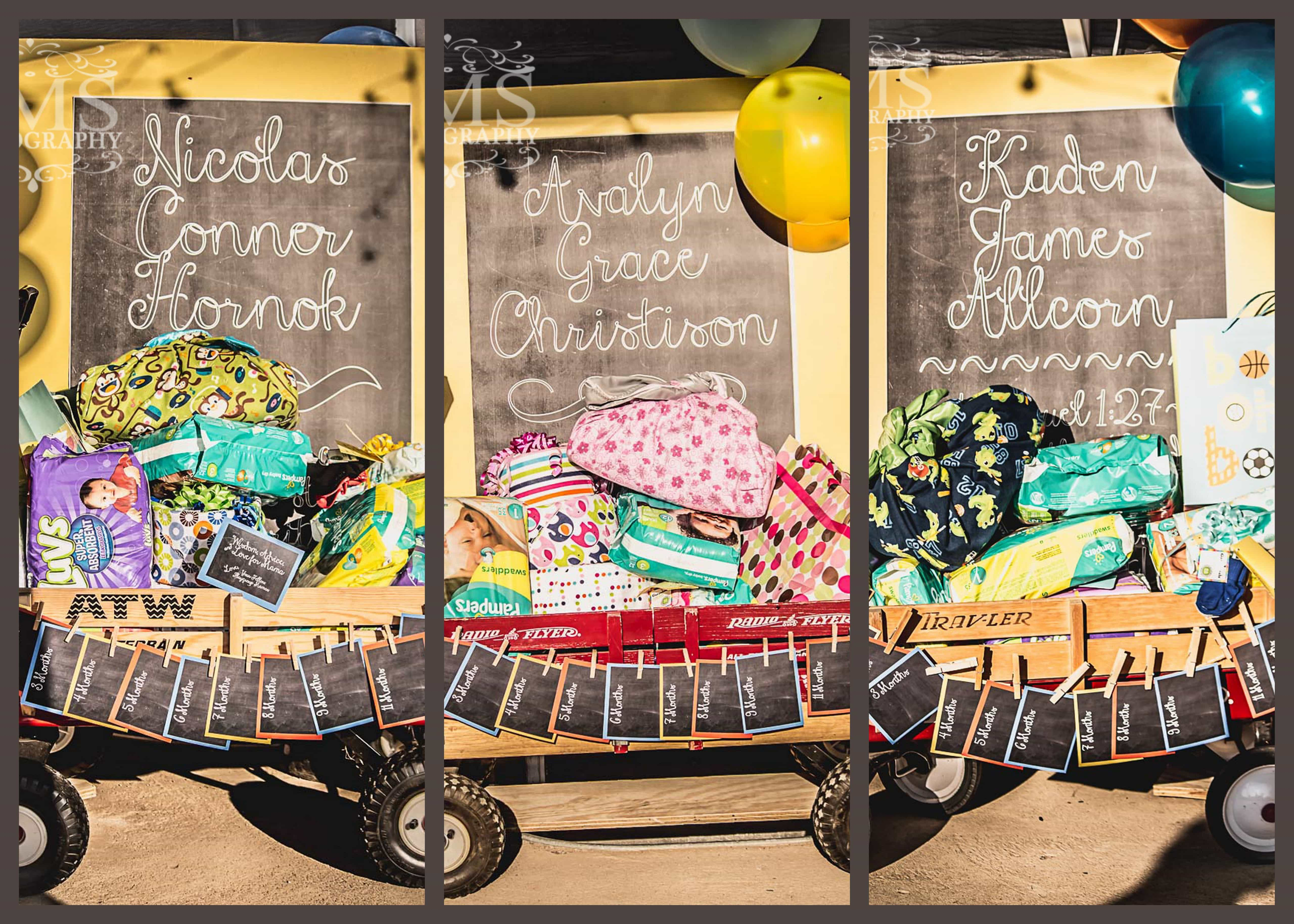 Triple Baby Shower with Welcome Wagons