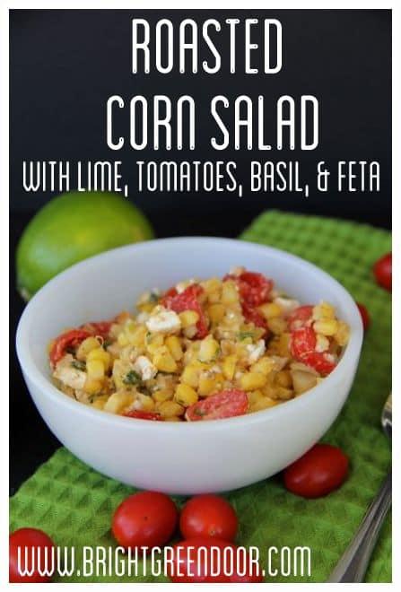 Feta, Corn, Tomato, and basil Salad