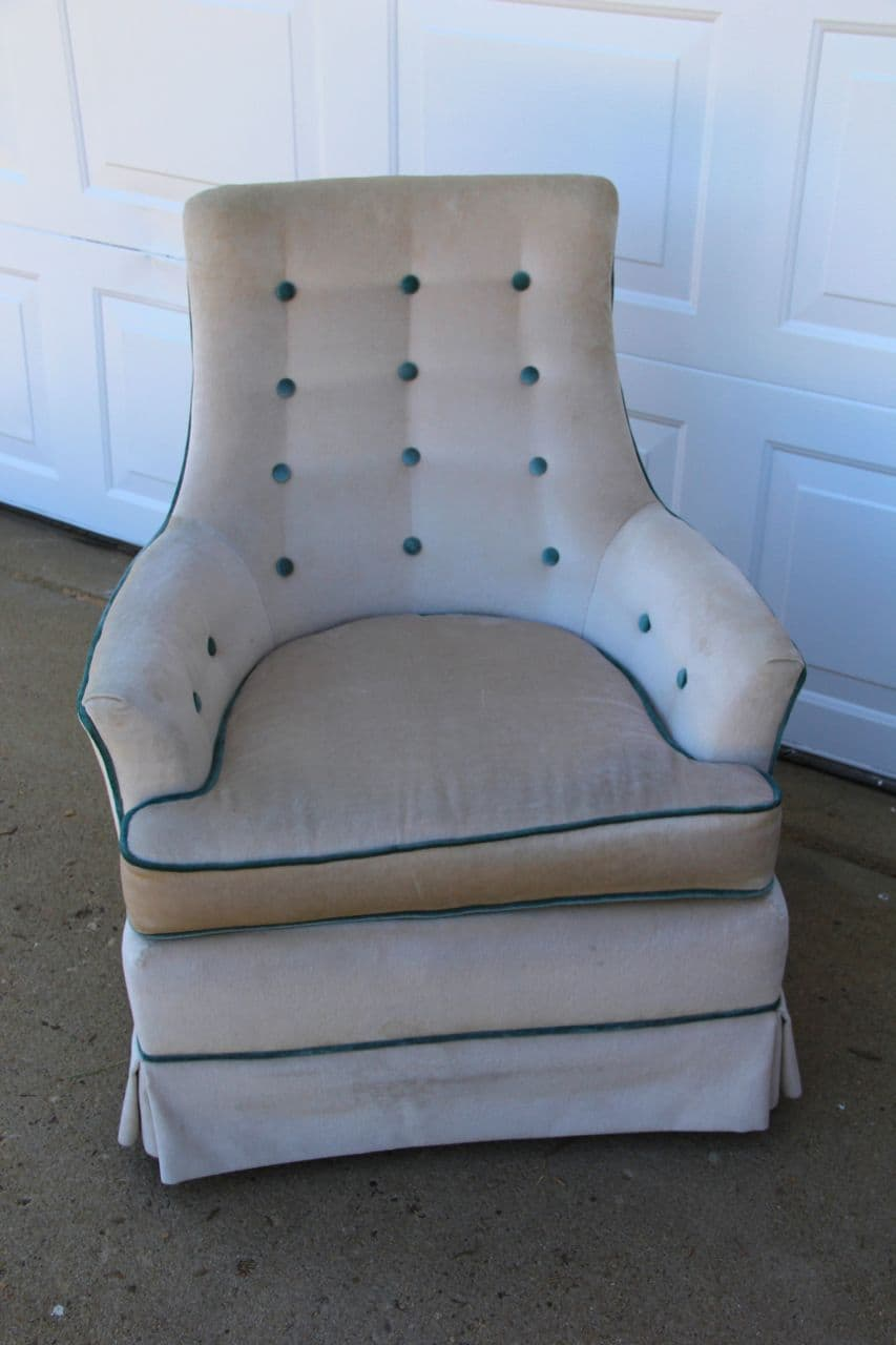 How to Clean a Vintage Upholstered Chair