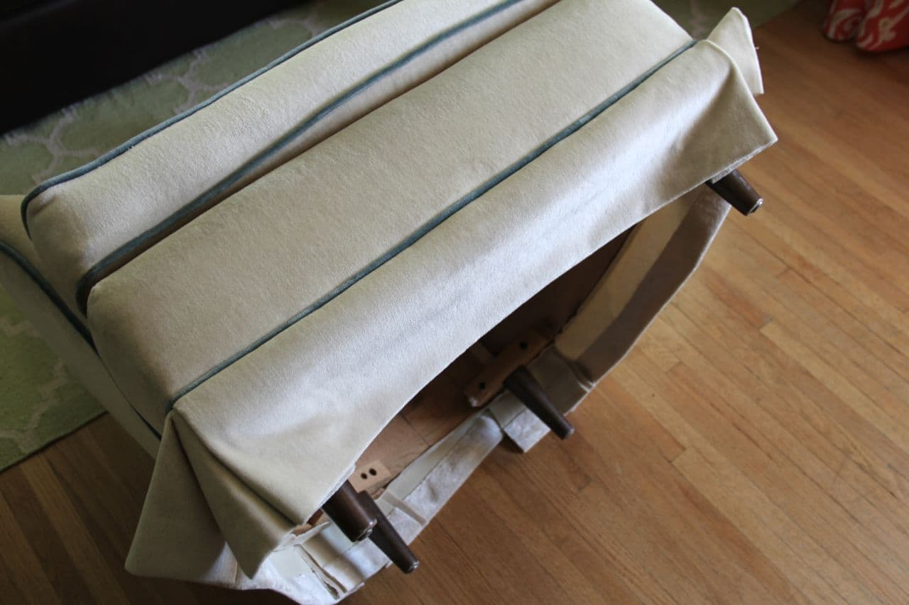 How to Remove a vintage chair skirt