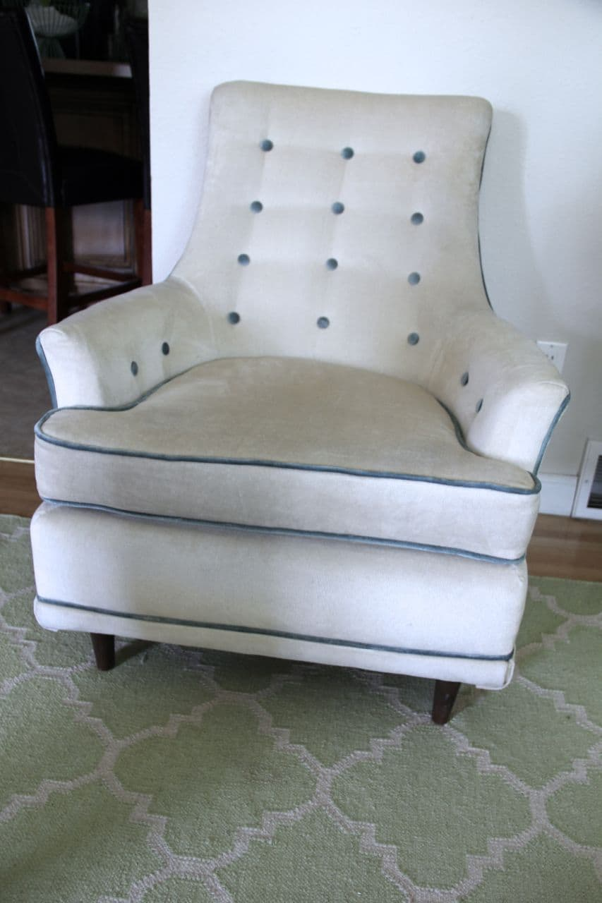 Clean old upholstery in the sun