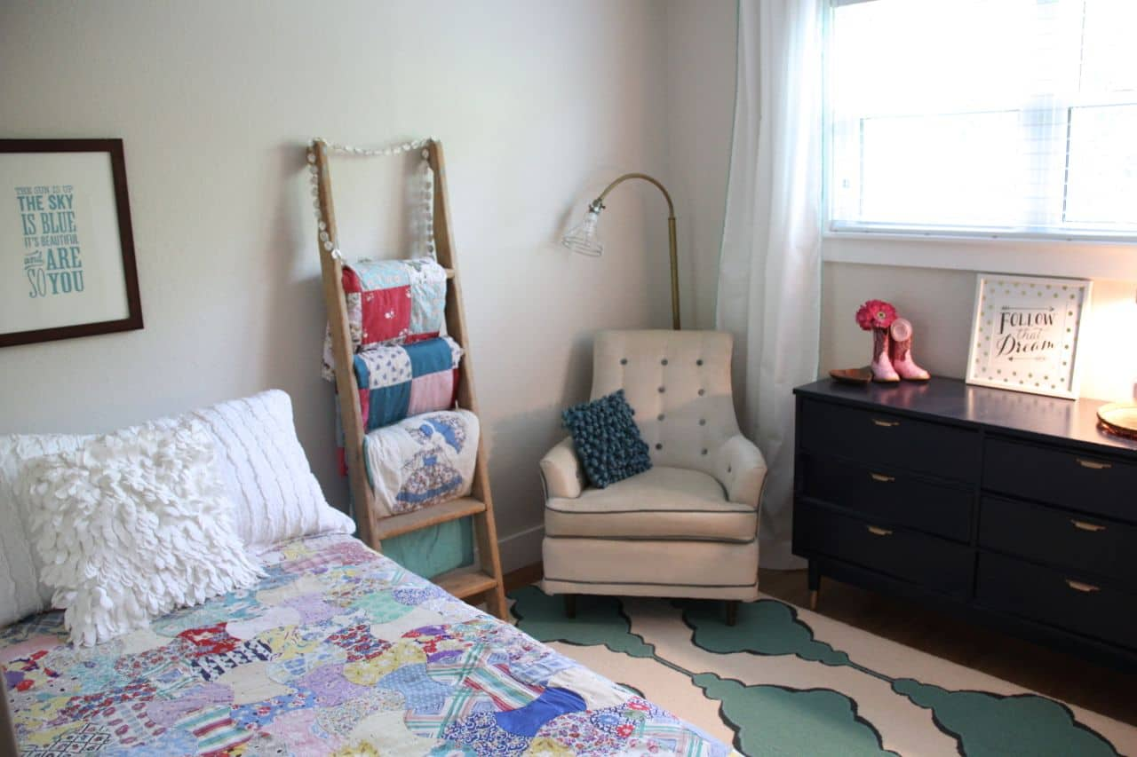 Vintage Modern Girl Bedroom