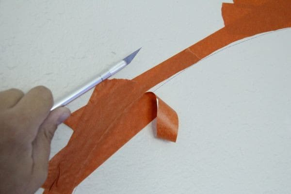 How to shape painters tape