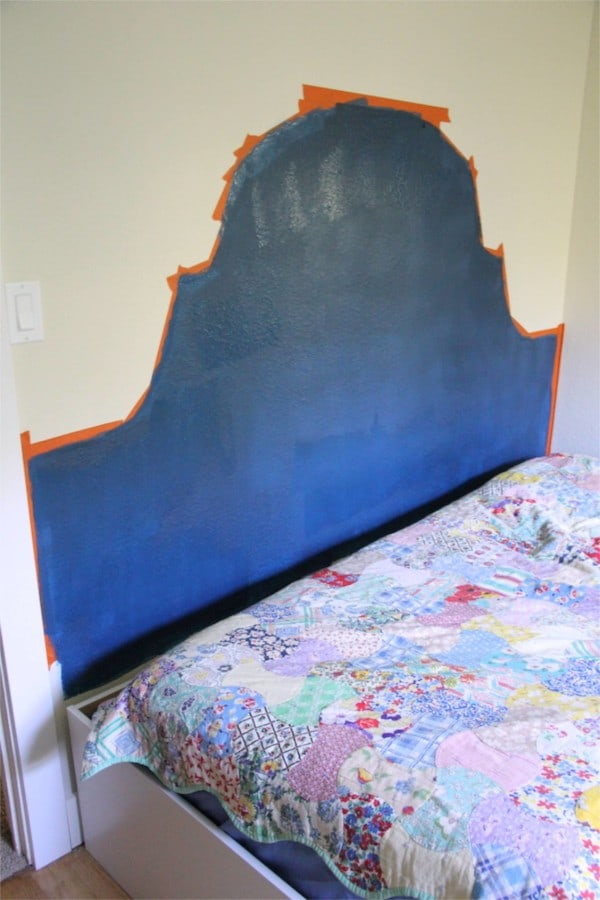Painted faux headboard