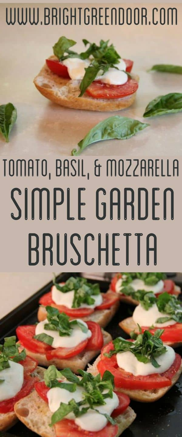 Simple Garden Bruschetta
