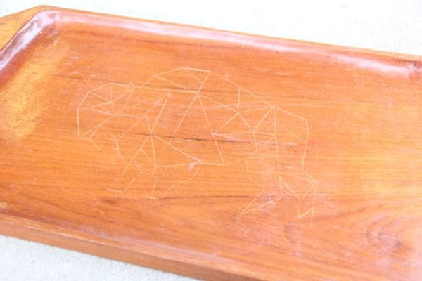 Geometric Bison Etched Tray - 24