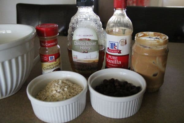 Ingredients for No Bake Energy Bites