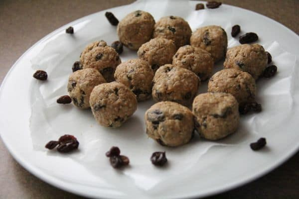 No Bake Oatmeal Raisin Energy Protein Bites