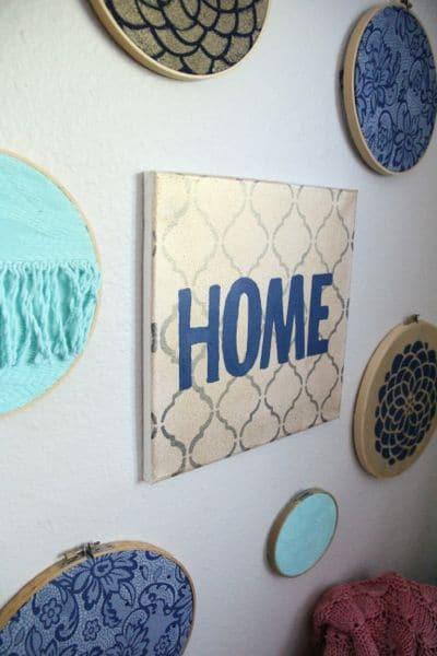 Embroidery Hoop Fabric Wall Art