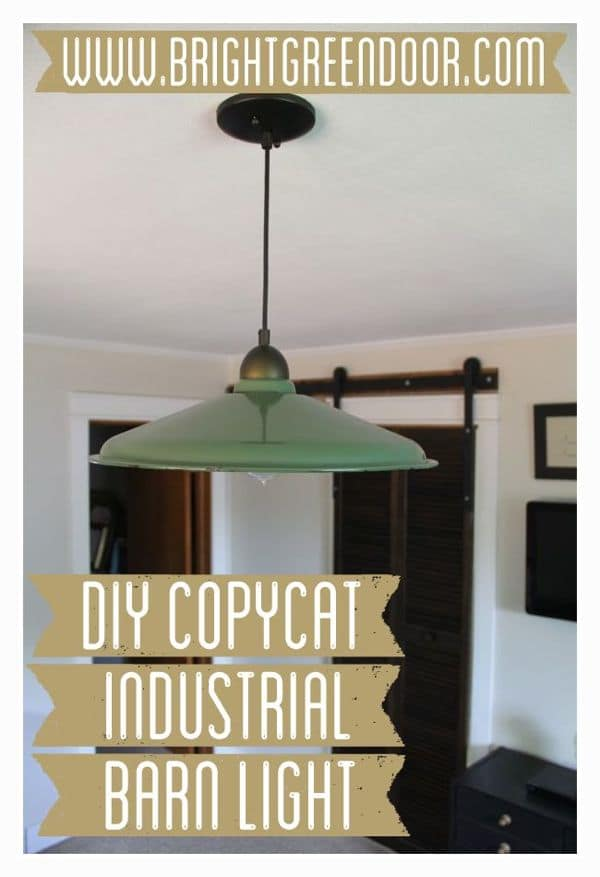 DIY Copycat Industrial Barn Light