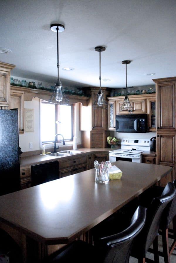 Custom Open Shelf Above Kitchen Cabinet