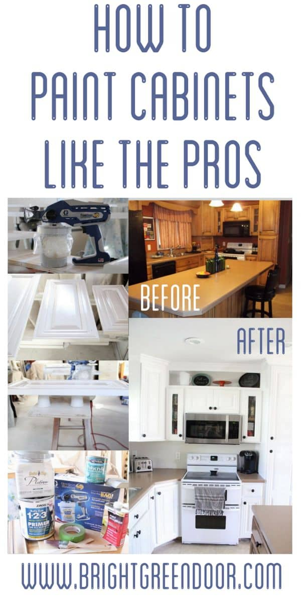 spray painting kitchen cabinets how to spray paint cabinets like the pros bright green door 26531