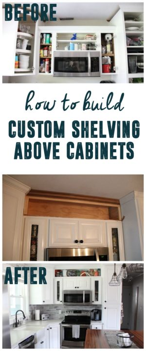 Custom Built in above cabinet