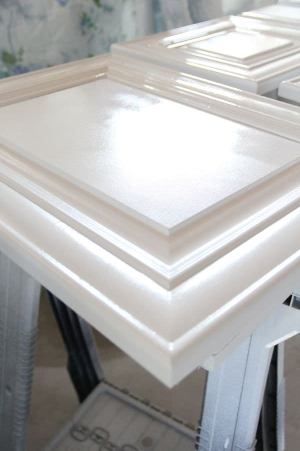 How to Spray and Seal White Painted Cabinets