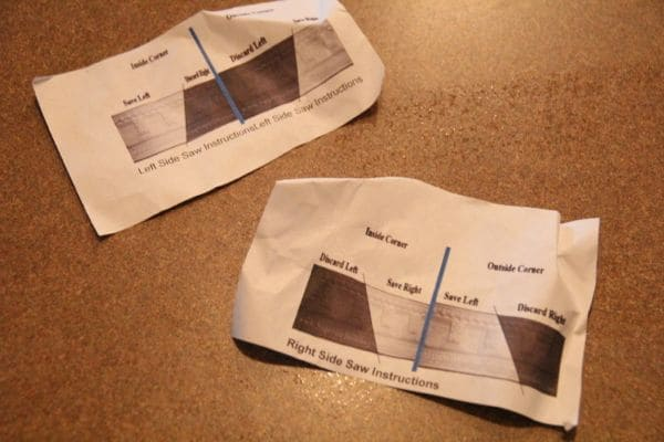 Template and Tutorial on Cutting Crown Molding in the Kitchen