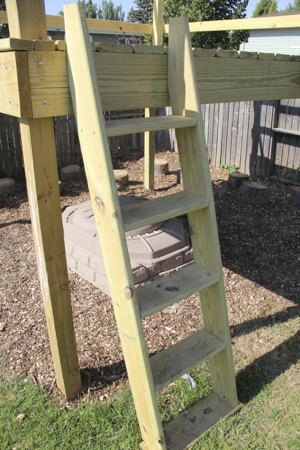 Build a Kids Fort Ladder