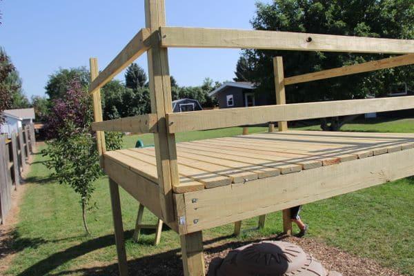 Kids Play Fort Raised Platform