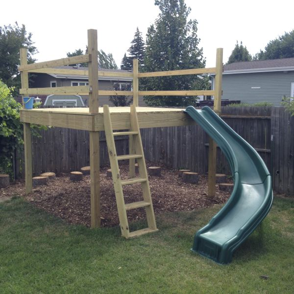 Play Platform with Ladder and Slide