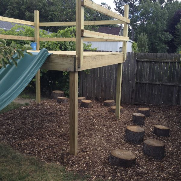 Stumps Buried for Kids Jumping Path