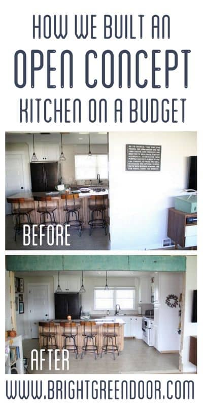 Creating An Open Concept Kitchen By Opening A Wall