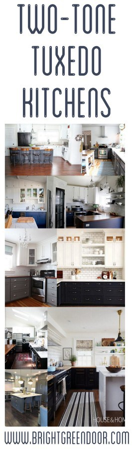 Two Tone Tuxedo Kitchen Cabinets