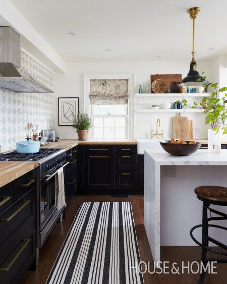 Two Tone Black and White Cabinets