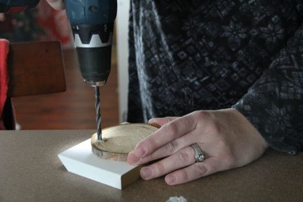 How to Make Wood Log Slice Ornaments