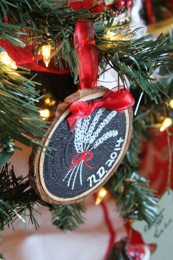 DIY State Chalkboard Ornament