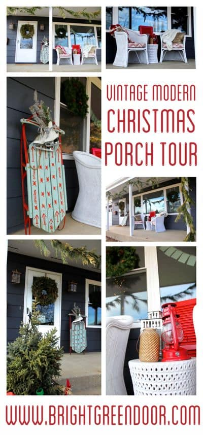 Vintage Modern Christmas Porch Tour