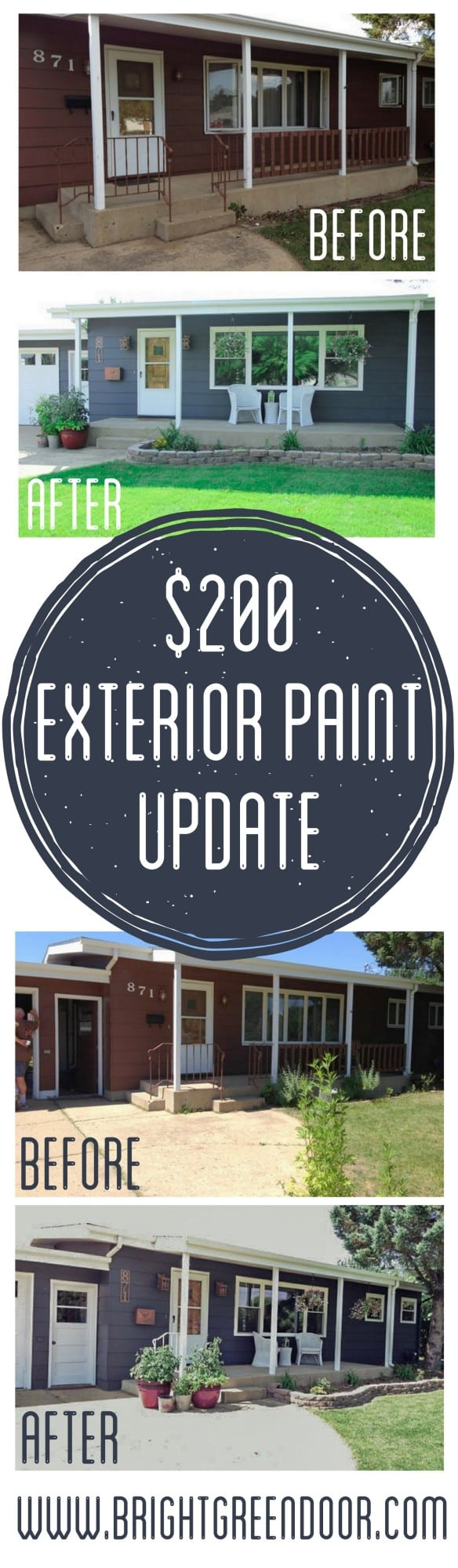 Dark Exterior House Paint Update