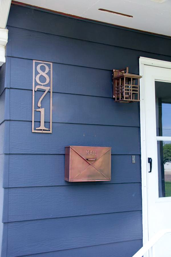 Copper exterior home accents