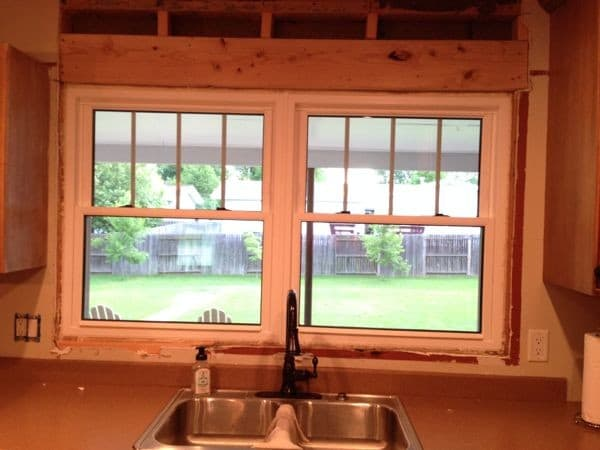 Craftsman windows over sink
