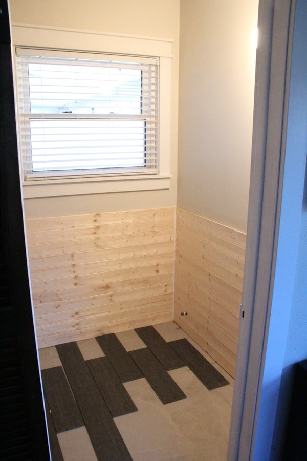 Planked Bathroom Walls