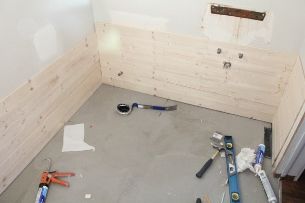 Installing Planks in the Bathroom