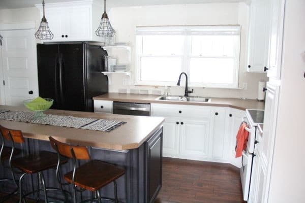 Painted White Cabinets with White Appliances